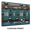 Philadelphia Eagles Personalized Locker Room Print - 2013 Rosters Updated