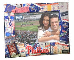 Philadelphia Phillies 4x6 Picture Frame - Ticket Collage Design