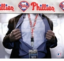 Philadelphia Phillies MLB Lanyard Key Chain and Ticket Holder - White