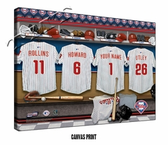 Philadelphia Phillies Personalized Locker Room Print