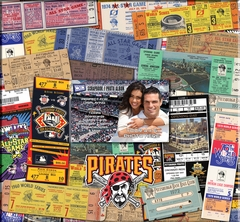 Pittsburgh Pirates 12 x 12 Ticket & Photo Album Scrapbook