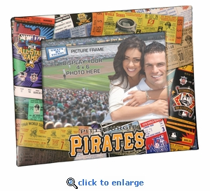 Pittsburgh Pirates 4x6 Picture Frame - Ticket Collage Design