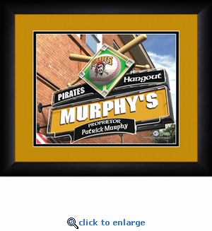 Pittsburgh Pirates Personalized Sports Room / Pub Print