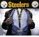 Pittsburgh Steelers NFL Lanyard Key Chain and Ticket Holder - Black