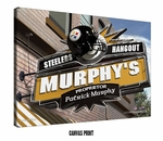 Pittsburgh Steelers Personalized Sports Room / Pub Print