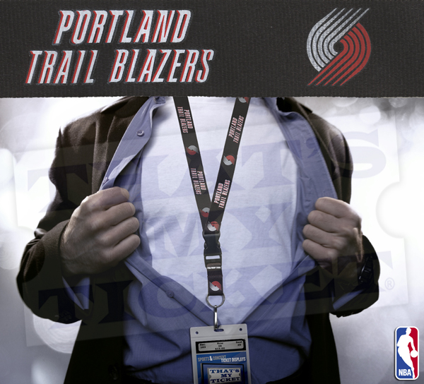 Portland Blazers Schedule: Portland Trail Blazers NBA Lanyard Key Chain And Ticket
