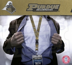 Purdue Boilermakers NCAA Lanyard Key Chain and Ticket Holder