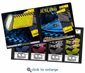 Auto Racing Ticket Album