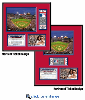 Rangers Ballpark in Arlington Ticket Frame - Rangers