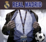 Real Madrid Premier League Lanyard Key Chain with Ticket Holder