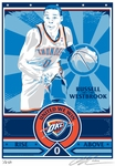 Russell Westbrook Sports Propaganda Handmade LE Serigraph - Thunder