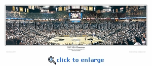 San Antonio Spurs 2005 NBA Champions - vs. Pistons Panoramic Photo