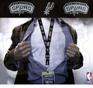 San Antonio Spurs NBA Lanyard Key Chain and Ticket Holder - Black