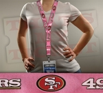San Francisco 49ers NFL Lanyard Key Chain and Ticket Holder - Pink