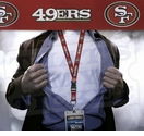San Francisco 49ers NFL Lanyard Key Chain and Ticket Holder - Red