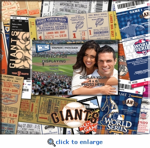 San Francisco Giants 8 x 8 Scrapbook - Ticket & Photo Album