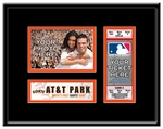 San Francisco Giants Personalized First Game Ticket Frame