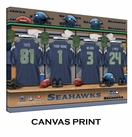 Seattle Seahawks Personalized Locker Room Print - 2013 Rosters Updated