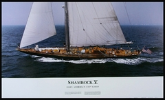 Shamrock V - America's Cup Yacht Panoramic Photo