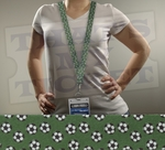 Soccer balls Green Novelty Lanyard Key Chain with optional Ticket Holder
