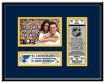 St Louis Blues 4x6 Photo and Ticket Frame