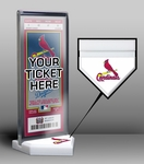 St. Louis Cardinals Home Plate Ticket Display Stand