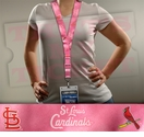 St Louis Cardinals MLB Lanyard Key Chain and Ticket Holder - Pink