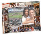 Texas Rangers 4x6 Picture Frame - Ticket Collage Design