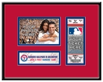 Texas Rangers Personalized First Game Ticket Frame
