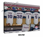 Texas Rangers Personalized Locker Room Print