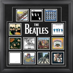 The Beatles UK Album Covers Framed Presentation