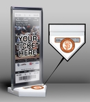 Tim Lincecum 2nd No-Hitter Home Plate Ticket Display Stand - San Francisco Giants