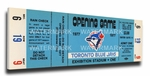 Toronto Blue Jays 1977 Opening Day / Inaugural Game Canvas Mega Ticket