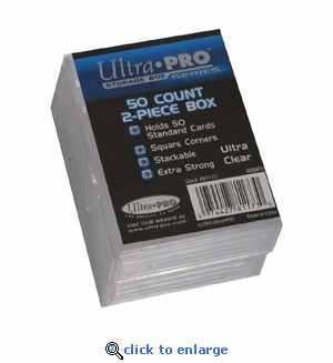 Ultra Pro 50Ct 2-Piece Plastic Box 2-Pack