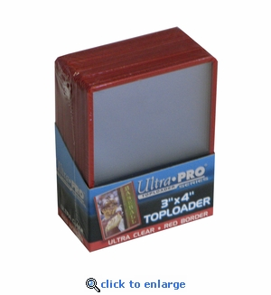 Ultra Pro3X4 Topload Red Border Card Holder (25)