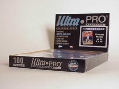 Ultrapro 1 Pocket (For 8-By-10-Inch Photos) Pages (100Ct)