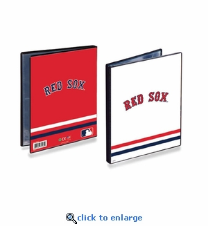 Ultrapro Baseball Card 4 Pocket Portfolio- Boston Red Sox