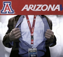 University of Arizona Wildcats NCAA Lanyard Key Chain and Ticket Holder