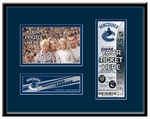 Vancouver Canucks 4x6 Photo and Ticket Frame