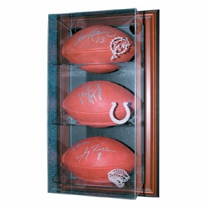 Wall Mount 3 Football Display Case