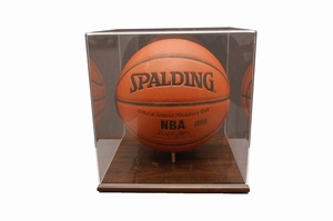 Walnut Finished Base Basketball Display Case