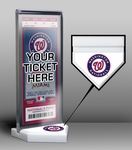 Washington Nationals Home Plate Ticket Display Stand