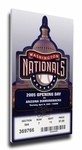 Washington Nationals 2005 Opening Day / Inaugural Game Canvas Mega Ticket