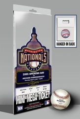 Washington Nationals Inaugural Game Mini-Mega Ticket