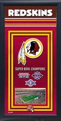 Washington Redskins Team Champions Frame