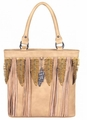 Montana West Fringe and Feather Handbag