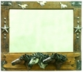 Triple Horse Wall Mirror on Sale
