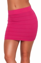 Bandage Fitted Slip On Soft Bodycon Knitted Casual Party Pencil Mini Short Skirt