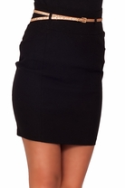 Belted Sexy Pencil Party Fitted Tight High Waist Trendy Straight Office Skirt