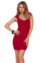 Bow Shoulder Sleeveless Dress Cocktail Elegant Classy Sleek Sexy Mini Dress